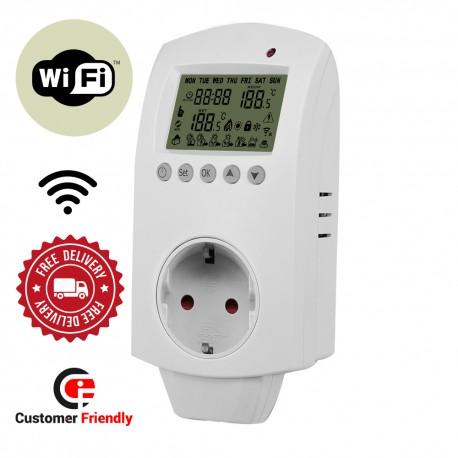 Termostat na wtyczkę do kontaktu, programator tygodniowy sterowany również WiFi HWP02