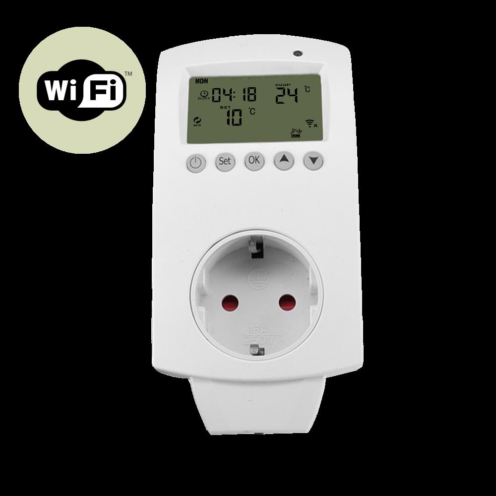 Termostat na wtyczkę do kontaktu, programator do kontaktu tygodniowy sterowany również WiFi